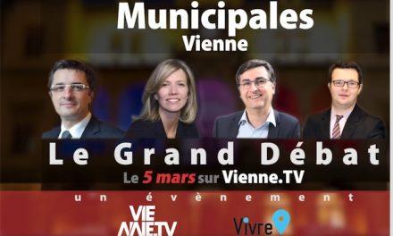 Jeudi sur Vivre-Vienne : avec Vienne TV, le grand débat avec les quatre candidats aux élections municipales