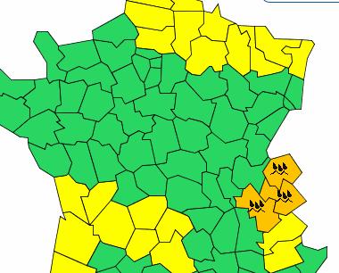 Météo France place l'Isère en «vigilance orange» pluie-inondation pour…48 heures !