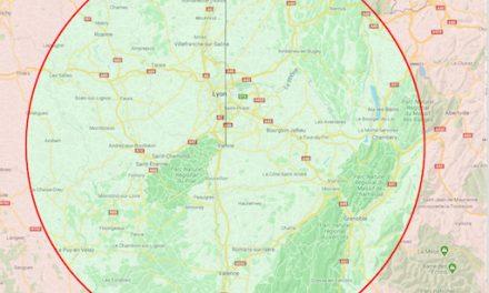 Déconfinement : Les 100 kilomètres autorisés,«à vol d'oiseau» autour de Vienne, la carte et la règle…