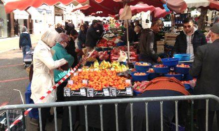 Le retour du grand marché du samedi matin à Vienne : à l'étalement  XXL et aux règles sanitaires à… respecter…