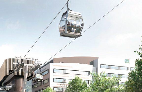 """Véritable métro dans les airs, un téléphérique urbain ou """"métrocâble"""" verra le jour à Grenoble en 2024"""