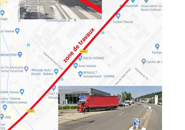 L'avenue du Général Leclerc à Vienne, en travaux  pour 4 mois : circulation alternée et coupures d'eau annoncées