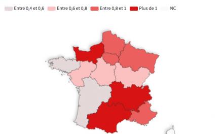 La circulation du virus semble repartir en Auvergne-Rhône-Alpes, avec un taux de reproduction supérieur à 1