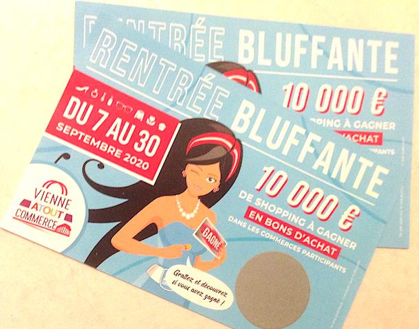 """Commerce : la """"Rentrée Bluffante"""" à Vienne, du 7 au 30 septembre, accompagnée de 10 000 euros de cartes à gratter"""