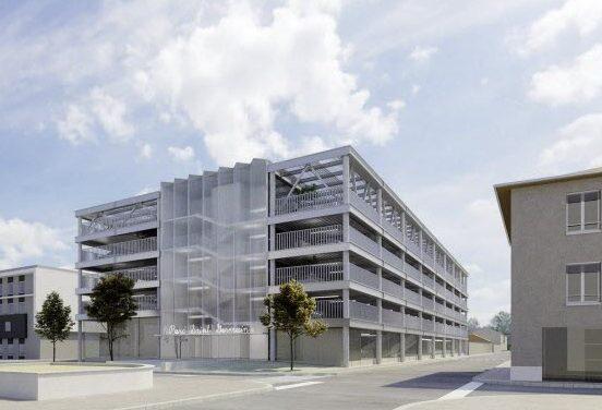 280 places : le futur parking de 5 niveaux de l'Espace Saint-Germain à Vienne, annoncé pour  mars 2022