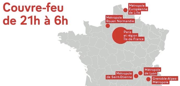 Covid-19-Les Métropoles de Lyon, Grenoble et St-Etienne sous couvre-feu dès samedi