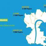 Tempête : des rafales à plus de 100 km/h,  près de 3 000 foyers privés d'électricité dans le Rhône et le Nord-Isère