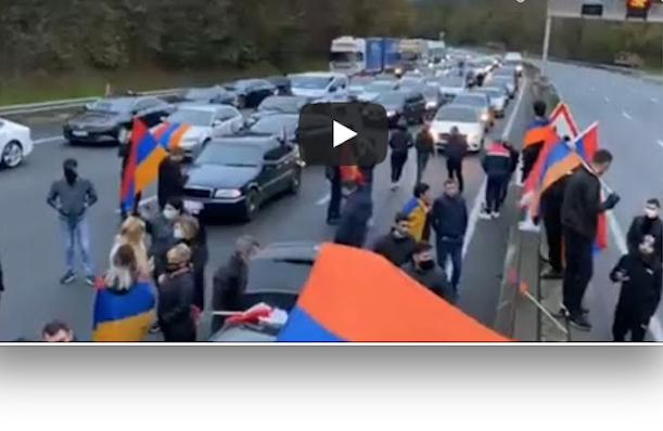 Un blessé évacué vers l'hôpital de Vienne : heurts entre manifestants arméniens et automobilistes turcs sur l'A7