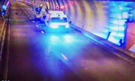 """Lyon : voiture en feu dans le tunnel de Caluire ce matin, bloquant des automobilistes dans des """"inter-tubes"""""""