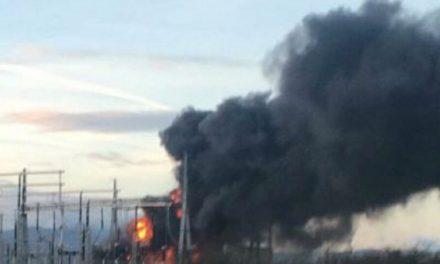 Importantes fumées noires près de Givors ce matin : un transformateur d'une ligne à 400 000 volts en feu
