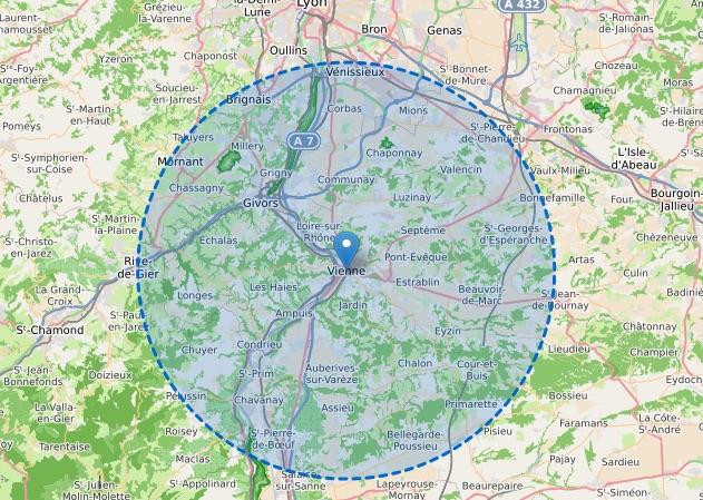Limite des 20 km : jusqu'où pourrez-vous aller, à partir de samedi,  autour de Vienne ?
