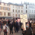 """La """"Marche des Libertés"""" rassemble 150 personnes à Vienne contre la loi """"sécurité globale"""""""