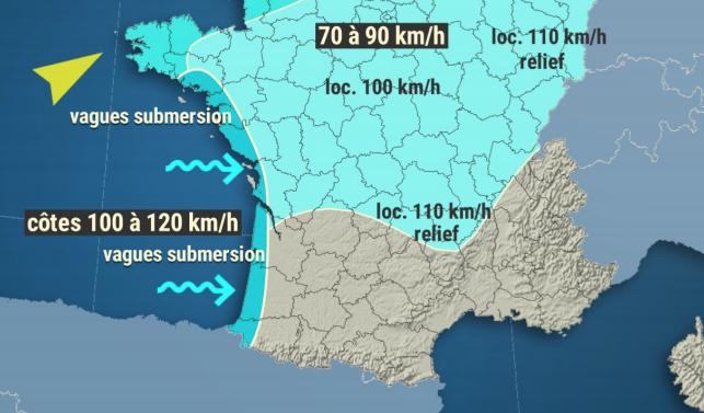 Tempête Bella : vents violents annoncés dans la vallée et le département du Rhône et le Nord-Isère