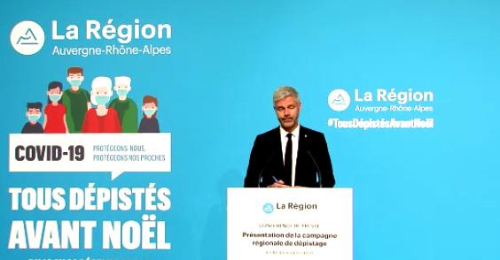 """Campagne massive régionale, """"Tous dépistés avant Noël"""" : les centres pour l'heure connus à Vienne"""