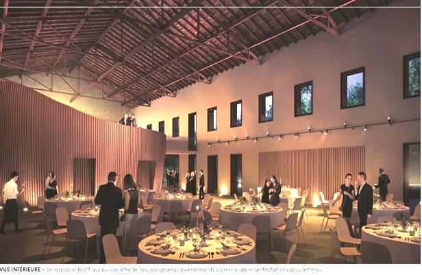 Les travaux en cours : dans le parc de Gemens, à l'automne 2021, Vienne aura sa salle des fêtes familiales