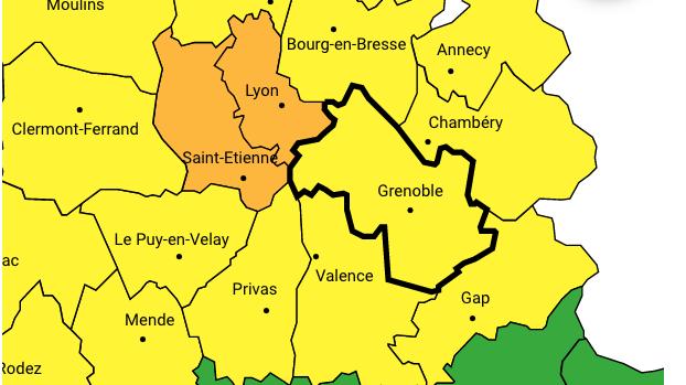 """Le Rhône et l'Isère mis en """"alerte"""" par Météo France : vents violents annoncés de 70 à 100 km/h"""