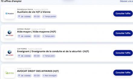 """72 emplois en CDI pour les jeunes à Vienne sur le site """"1jeune1solution.gouv.fr"""""""
