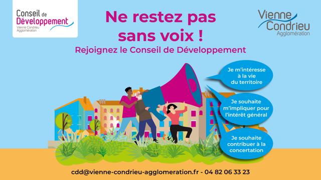 Publi/info- Conseil de développement de Vienne Condrieu Agglomération : vous pouvez candidater !