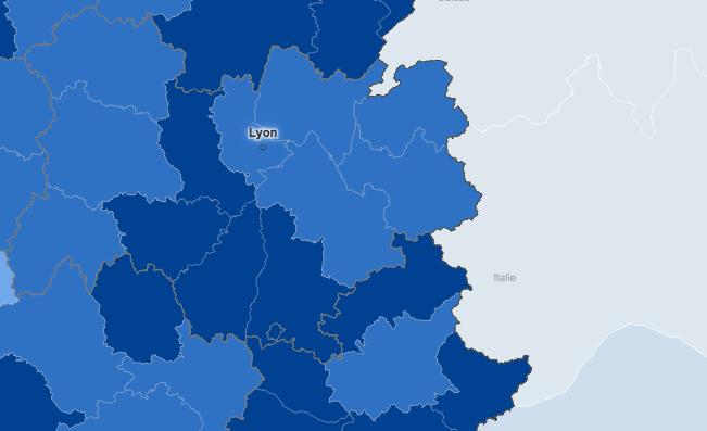 L'absence de confinement apparaît cohérente avec la situation sanitaire constatée dans l'Isère et le Rhône…