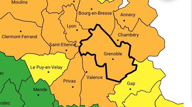 Météo France met l'Isère et le Rhône en vigilance orange neige/verglas