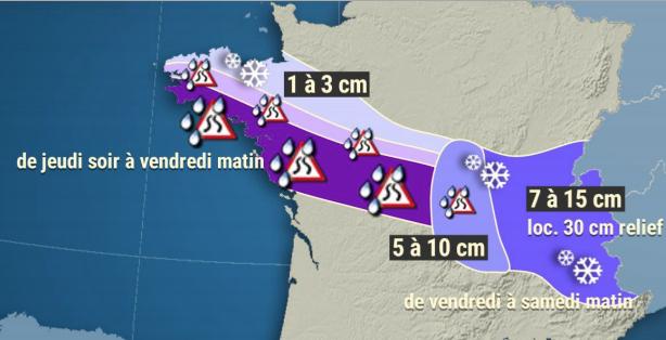 10 départements d'Auvergne-Rhône-Alpes en vigilance orange neige : le préfet de région appelle à la prudence
