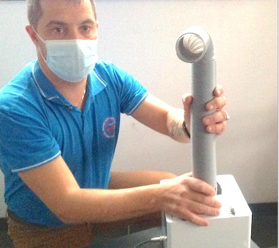 Publi/info- Un chef d'entreprise de Serpaize a mis au point un nébulisateur particulièrement efficace anti-Covid-19
