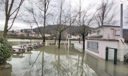 Crue du Rhône, forts débits, buvette de l'Ile Barlet sous les eaux et navigation entravée…