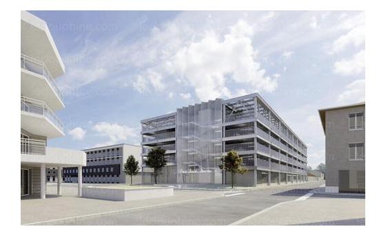Le parking provisoire de l'Espace Saint-Germain à Vienne fermé le 24 mars pour fouilles avant travaux…