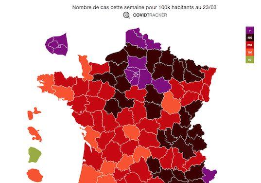 Covid-19-La situation se dégrade, l'Isère et le Rhône ont franchi le seuil d'alerte