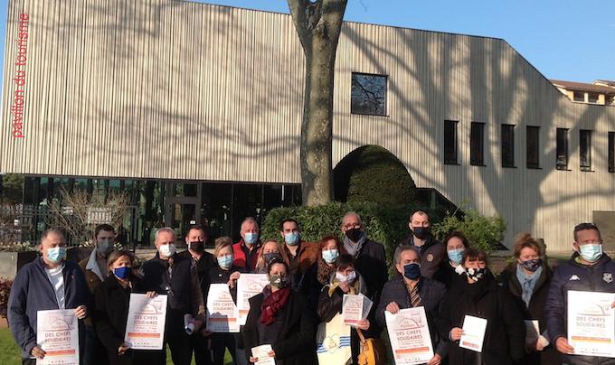 """Gros succès du """"Pavillon des chefs solidaires"""" à Vienne : déjà 1 500 repas commandés !"""