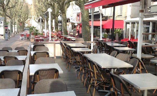 Demain, réouverture des terrasses sous les averses orageuses à Vienne