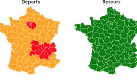 Dès ce vendredi pour les départs de Pentecôte  : drapeau rouge  sur l'A7 et Auvergne-Rhône-Alpes