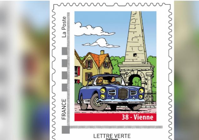 Nationale 7 et Pyramide mises en avant : la Poste sort un timbre à l'effigie de Vienne