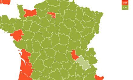 Variant Delta du Covid-19-Le Rhône a dépassé le seuil d'alerte, l'Isère, désormais très proche
