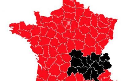 Bison futé classe demain samedi Auvergne-Rhône-Alpes en noir, ce vendredi en orange…