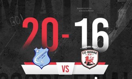 Rugby : le CS Vienne l'emporte sur le fil à domicile face à Berre l'Etang