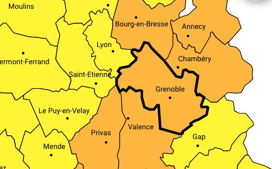 L'Isère placé par Météo France en vigilance orange aux orages et aux inondations
