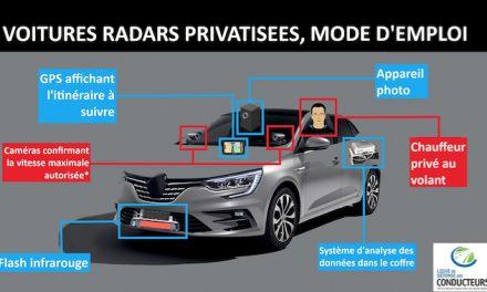 Les voitures radars privées annoncées pour l'année prochaine en Auvergne-Rhône-Alpes