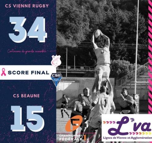 Rugby : le CS Vienne s'impose largement sur son terrain, face à Beaune