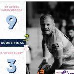 Rugby : 3ème défaite, les Viennois battus à l'extérieur par le 1er de la poule, Hyères-Carqueiranne